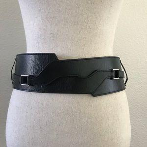 Talbots Wrap Around Wide Leather Belt Medium